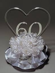 60th anniversary cake topper 60th wedding anniversary cake topper kitchen dining