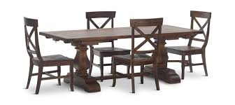 pineridge trestle table with 4 side chairs hom furniture