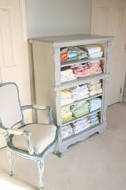Dresser With Bookshelves by Trash To Treasure Drawer Less Dresser Turned Fabric Storage In