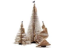 cardboard christmas tree unconventional christmas tree ideas freshome