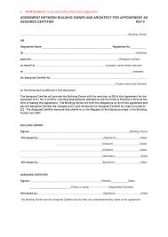 Architect Signature Post 7 Client U0026 Assigned Certifier Agreement Architect Bregsforum
