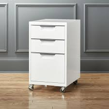 tps 3 drawer white file cabinet cb2