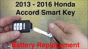 honda accord fob battery 2013 2016 honda accord smart key battery replacement