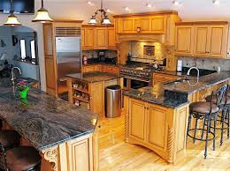 kitchen decorative oak kitchen cabinets with granite countertops