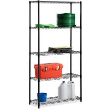 honey can do urban shelving 5 tier adjustable storage shelving
