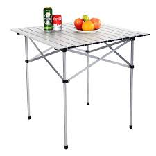 Walmart Camping Table Costway Roll Up Portable Folding Camping Square Aluminum Picnic