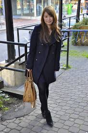 women s navy pea coat navy swing dress black suede ankle boots