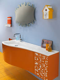 wonderful wall clock wonderful orange bathroom design with light