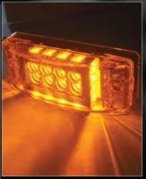 led lights for semi trucks semi truck led light semi trailer amber 24 superdiodes 12 pack