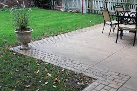 Stamped Concrete Patios Pictures by Decorative Concrete Customize Your Home Goodmanson Construction