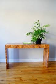 burl wood console table str8mcm burl wood console