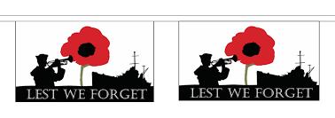 lest we forget royal navy poppy horizontal flag 3m bunting