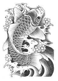 Black And Grey Koi Carp - koi carp coi pencil and in color koi carp coi
