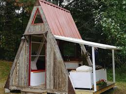 Build Your Own A Frame House Tiny Transforming A Frame Costs Less Than 1200 To Build Curbed Ski