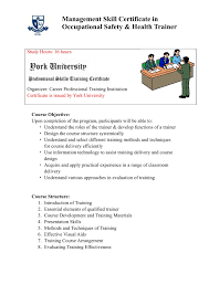 certificate programs york university usa