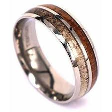 wedding rings images antler wedding bands wedding rings free us shipping manly bands