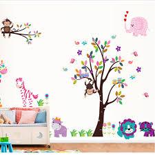 popular monkeys animated buy cheap lots from removable animal monkey trees wall sticker kids room bedroom living fridge stickers flower