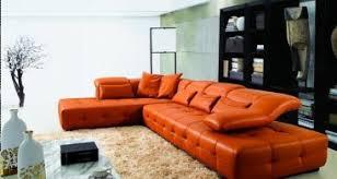 orange leather sectional sofa 2315b modern orange leather sectional sofa orange sectional sofa