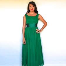 Kelly Green Maxi Dress Shop Vintage Kelly Green Dress On Wanelo