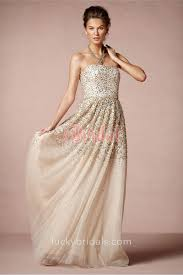 silver wedding dresses strapless sparkling gold and silver sequined chagne tulle