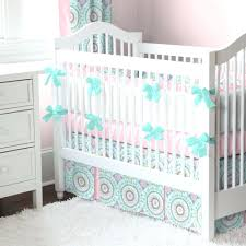 Pink And Green Crib Bedding Baby Crib Bedding Pink And Gold Sets With Bumper Nursery