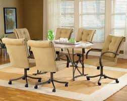 Velvet Dining Room Chairs Upholstered Dining Room Chairs With Casters Masterly Photo Of