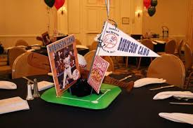 Sweet 16 Table Centerpieces Baseball Theme Bar Mitzvah Wedding Sweet 16 Party