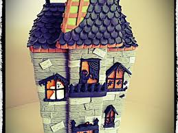 Halloween Haunted House Cake Spooky Gingerbread Mansion Tutorial Cakecentral Com