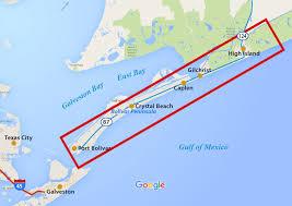 Galveston Island Map Service Area Welcome To Bolivar Peninsula S U D