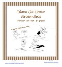 groundhog freebie free printable emergent reader wake