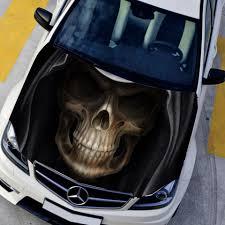 Car Bonnet Flags Auto Graphics Hd Skull Hood Wrap Decal Car Graffiti Stickers