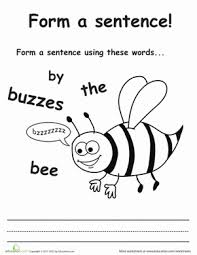 make a sentence 1st grade worksheets education com