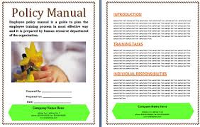 free manual template word policy manual template policy manual template musicax org word