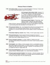 famous firsts in aviation printable timeline of history of