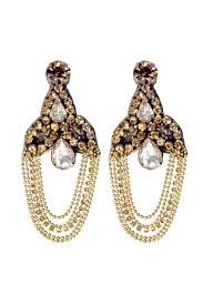 bronze palace chandelier earrings by deepa gurnani for 15 rent