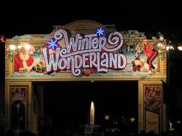winter half theme park half german market