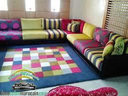 tissu pour canapé marocain salon marocain contemporain multi coloris salon marocain moderne
