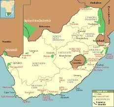 map of south africa map of south national parks