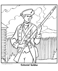 colonial boy coloring page coloring pages