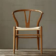 hans wegner wishbone replica german beech wood chair walnut brown