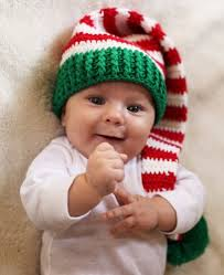baby boy christmas boy or girl christmas crochet baby hat knit