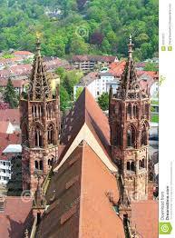 Germany Map Freiburg by Freiburg Minster Germany Stock Photo Image 39727612