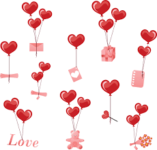 valentines day ornaments vector 01 vector festival