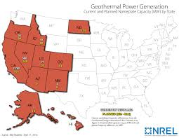 Red State Map by Map Of Geothermal Power Generation In Each State American