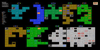 legend of zelda world map poster the legend of zelda 1st quest dungeons poster map 24 x 12 for the