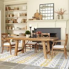 extraordinary rectangle brown wooden farmhouse kitchen table