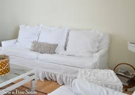 slip covers and feather pillows sew a fine seam
