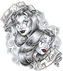 laugh now cry later tattoo designs tattoo ideas pictures