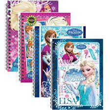 disney princess frozen a5 100 u0027s hard cover notebook blue
