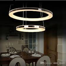 Modern Dining Room Pendant Lighting Modern Led Chandelier Acrylic Pendant L Living Room Dining
